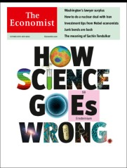 How science goes wrong Economist Cover 19.10.2013